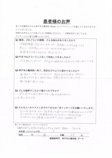 ずっと持ち歩いていた頭痛薬を持たなくても安心して外出できる様になりました。 大阪府吹田市 35歳女性