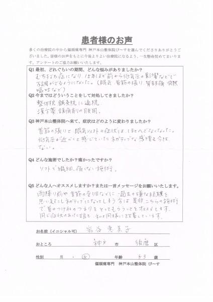 低気圧が近づくと感じていたネガティブな感情がなくなりました。 神戸市須磨区53歳女性
