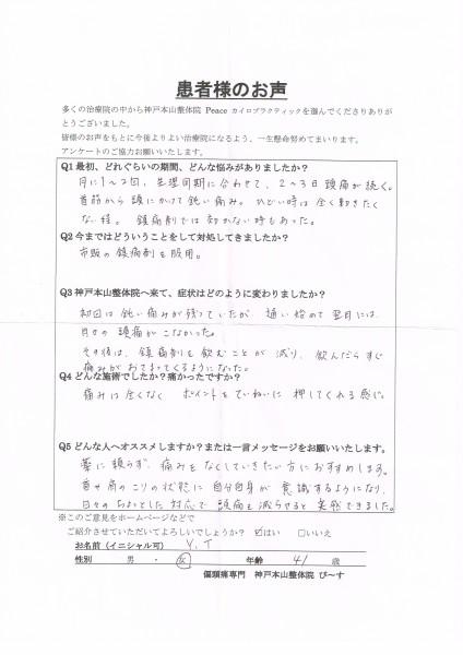 通い出して翌月には、生理の時の頭痛がなくなりました。 生理周期による片頭痛 神戸市東灘区41歳女性
