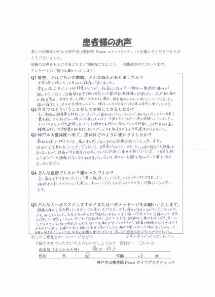 毎日4~6錠も飲んでいた薬を使わなくなりました。 薬物乱用頭痛 大阪府高槻市28歳女性