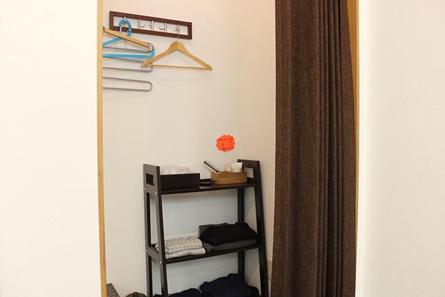 更衣室を完備しています。