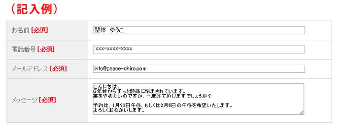 記入例(PC)